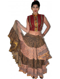 8 Pcs Cotton vintage saree skirt