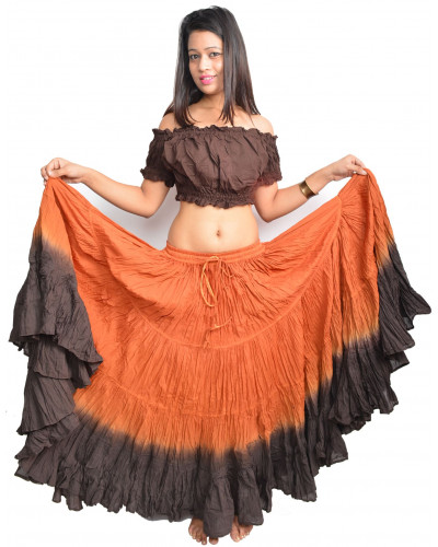 American tribal style belly dancing 25 yard cotton skirt