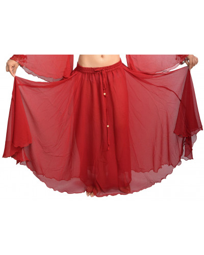 ATS Tribal Fusion Georgette Skirt for Egyptian Belly Dance