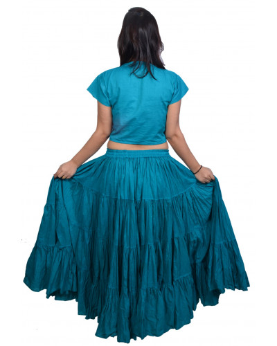 Belly dance 25 yard cotton skirt - Gypsy Skirt Teal
