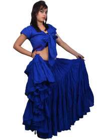 Belly dance skirt in Royal Blue color