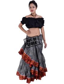 Dança do ventre saia tribal dança cigana