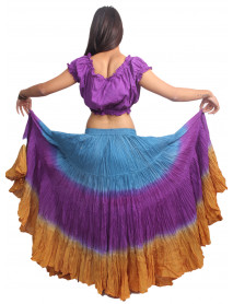 Dip Dye 25 Yard Pure Cotton Skirts - Store333