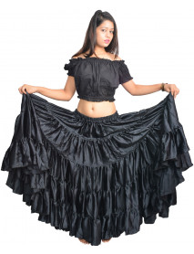 Flamenco satin skirts for sale - Dancing Skirts
