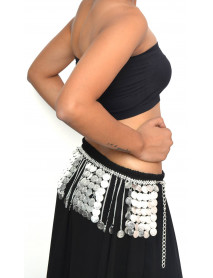 Fringe belly dance metal belt