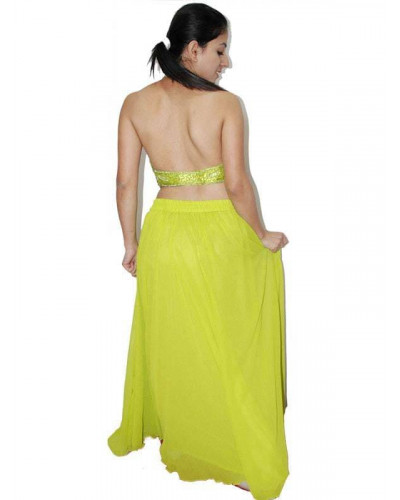 Georgette belly dancers skirt