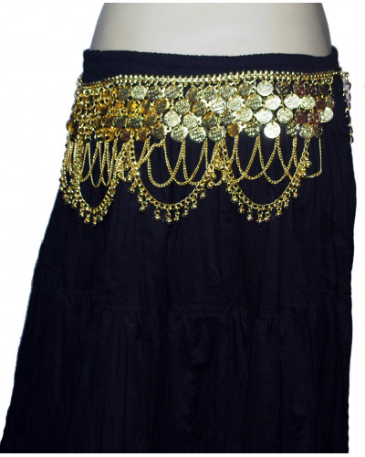 Gold coin Belly dance metal belt Plus Size