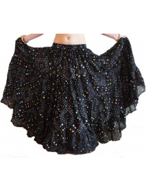 Improvisational Tribal Bellydance polka dot skirt