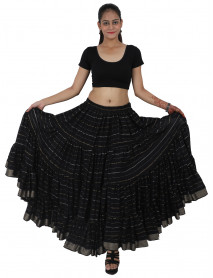Jaipur Rajasthan Lurex ATS 25 Yard Gypsy Tribal Dance Skirt