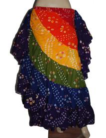 Lot of 10 Long 25 Yard Spanish Multi Colour Polka Dot Jaipur Skirt