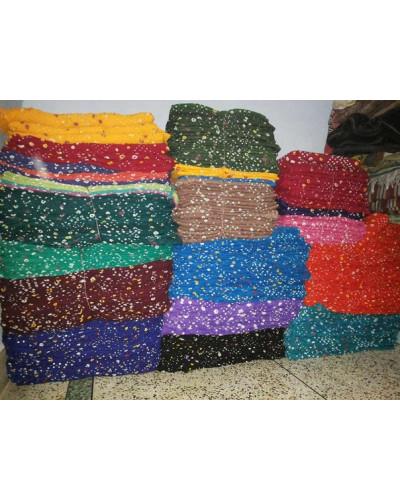 Polka dot cotton fabric cloth