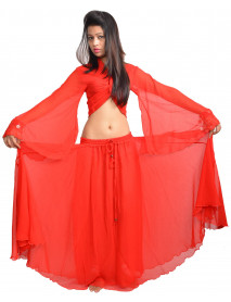 Red Skirt With Gypsy Top Belly Dance Dress