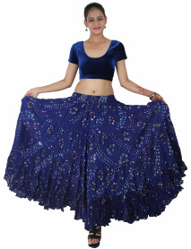 Tribal Dance Polka dot style skirts Blue 25 Yard
