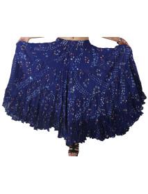 Tribal Dance Polka dot style skirts Blue 25 Yard