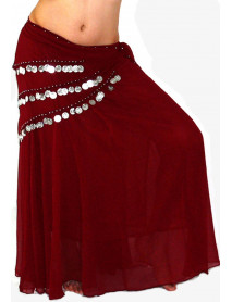 wholesale 10 Chiffon Skirt With Coin Scarve
