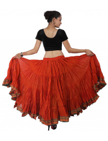 Women Tribal Cotton Belly Dance Skirt