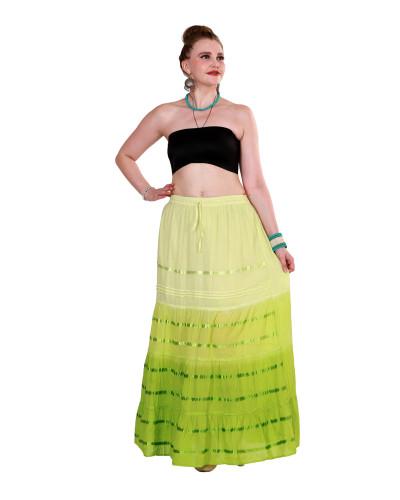 05 Cotton Ombre Dip Dye Long Skirt