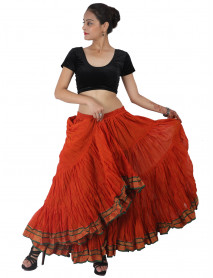 Sari Trim Skirt Lotus