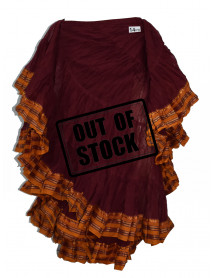 Dark Red (Maroon) Belly Dance Costume Skirt - 14PD
