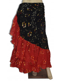 Black/Red 25 Yards Jaipur Tribal Belly Dance Skirts