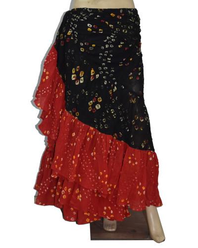Black/Red 25 Yards Jaipur Tribal Belly Dance Skirts