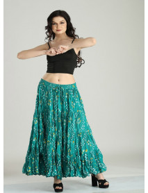 Zumba Belly Dance 25 yard Long Cotton skirt