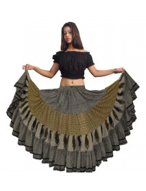 25 Yard Printed Bomba / Bombazo Caribbean Dance skirt - Pack of 2