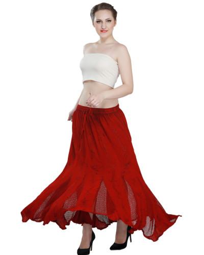 50 Women's Floor Length High-Waist Maxi Skirts