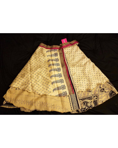 05 Micro Mini Magic Wrap Sarong Sari Skirt 16 inch