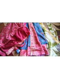 20 Two layer sari silk skirts 24""