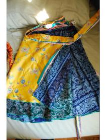 """25 Vintage sari skirts wholesale small 24"""""""