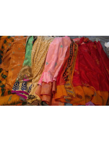 25 Vintage sari skirts wholesale small 24""