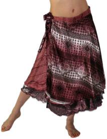 34XL Long 10 Reversible Style Vintage Magic Wrap Skirt