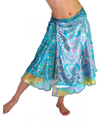 34 XL - 05 Large Plus size Magic Wrap Recycled Skirts / Dress