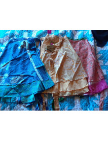 50 Wrap around small magic sari skirt 16""