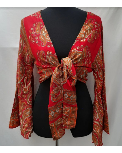 Lot of 10 Belly Dance Gypsy Printed Blouse Top