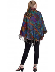 Pack of 10 Wholesale Winter Patch Ponchos for Women
