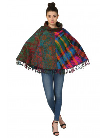 Pack of 10 Wholesale Winter Ponchos for Women