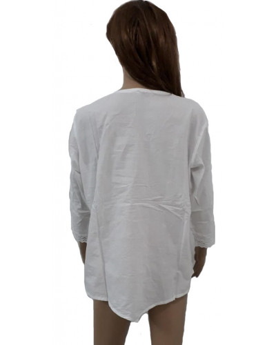 Pack of 100 Wholesale Cotton White Tops Embroidery Clearance